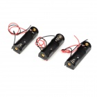 SZCS03 AAA Battery Box Caso Titular w / Leads - Black + Red (3 PCS)