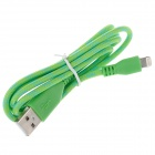 Universal USB 2.0 to 8-Pin Sync Data / Charging Cable - Green (102cm)