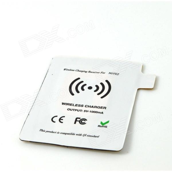 Wireless Charging Receiver for Samsung Galaxy Note II - White fulanka wireless charging back cover wireless receiver for samsung galaxy note 2 n7100 white