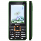 "T.Gstar 009 2.4"" Screen GSM Dual Network Standby Cell Phone w/ Bluetooth, FM, Camera - Green + Black"