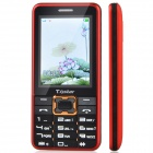"T.Gstar 009 2.4"" Screen GSM Dual Network Standby Cell Phone w/ Bluetooth, FM, Camera - Red + Black"