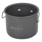 ALOCS TW-402 Convenient Outdoor Aluminum Cup - Deep Gray