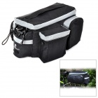 Yongruih LX001 Convenient Oxford Fabric Tail Luggage Bag / Sling Bag for Bike - Black