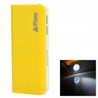 iFans EL-PB-12 11200mAh Dual-USB Mobile Power Source w/ LED Light for Samsung + More - Yellow