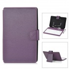 "Ultrathin Micro USB 80-Key Keyboard w/ PU Leather Case for 7"" Tablet PC / Cell Phone - Purple"