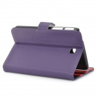 Stylish Protective PU Leather Case for Samsung Galaxy Tab 3 T210 - Purple