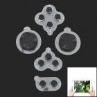 YaoSheng 01 Game Joystick Silicone Button for Ipad + Iphone - Black + White + Black (5 PCS)