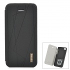USAMS Protective PU Leather + PC Case Cover for Iphone 5C - Black