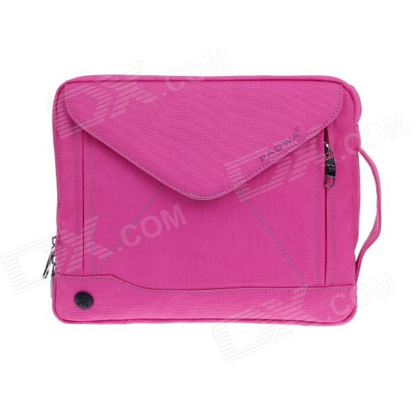 PADWA 13 Dual-Zipper Portable Nylon Bag for Notebook / Tablet PC - Deep Pink creative design laptop sleeve pouch for samsung galaxy note 10 1 n8000 n8010 n8020 fashion hand holder tablet pc case bag gift