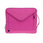 "PADWA 13 ""Dual-Zipper Tragbare Nylon Tasche für Notebook / Tablet PC - Deep Pink"