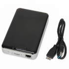 W3000PH USB3.0 3000mAh Power Bank / Wi-Fi Router / Mobile HDD Enclosure - Black + Silver