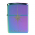 JIANTAI Grinding Wheel Style Zinc Alloy Cigarette Cotton Oil Lighter - Purple + Blue + Green