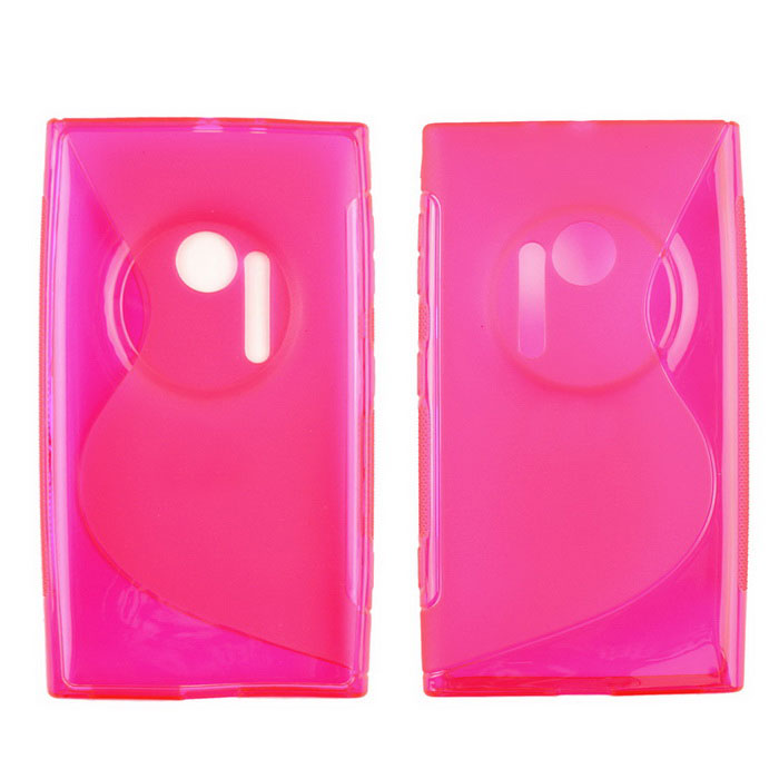 Protective TPU Back Case for Nokia Lumia 1020 - Deep Pink battery ac car charger set for canon digital ixus series ixus 800 is more