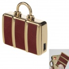 SHAYU SH-5210 USB Rechargeable Windproof Zinc Alloy Electronic Cigarette Lighter - Brown + Golden