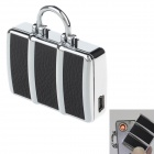SHAYU  SH-5210 USB Rechargeable Windproof Zinc Alloy Electronic Cigarette Lighter - Black + Silver