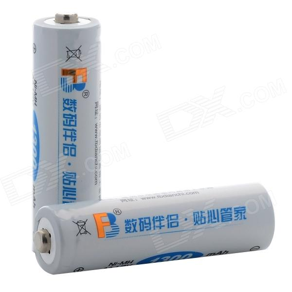 FB 1300mAh AA 1.2V Ni-MH Rechargeable Battery (2 PCS) аккумуляторы hr06 aa duracell ni mh 1300 mah 2шт