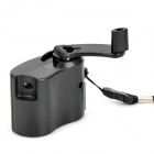 Dynamo Hand Crank USB Cell Phone Emergency Charger - Black