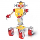 Iron Commander SM146751 Metal Assembly Robot Housekeeper - Silver + Yellow + Red