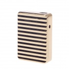 SHAYU Aluminum Alloy Wave Pattern USB Rechargeable Lighter - Golden (5V)