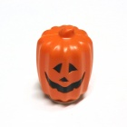 Halloween Long Type Two-sided LED Jack-o-lantern Pumpkin Lamp - Orang Red + White + Black (3 x AAA)