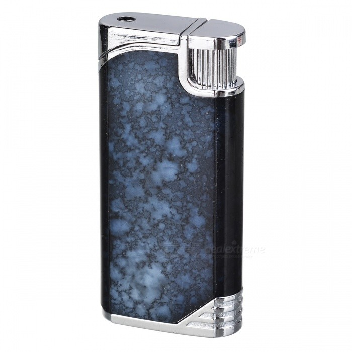 Fashion Windproof Butane Lighter / Tricky Joke Toy - Black + Silver chili pepper style zinc alloy butane gas lighter green