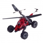 Udir / C U821 Mini 4-CH 3-in-1 IR Remote Control Helicopter w / Gyro-Black + Red