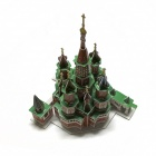 Moscow's Red Square Three-dimensional Jigsaw Puzzle - Green + Brown + White