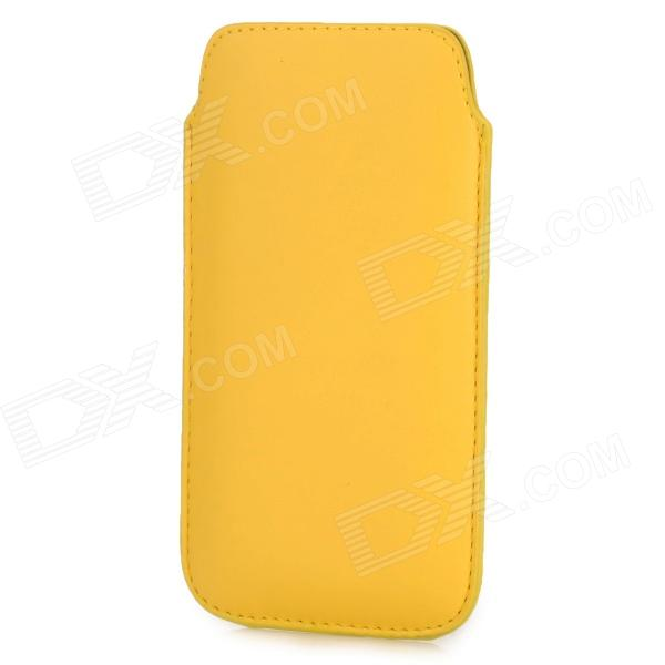 Protective PU Leather Pouch Bag Case for Samsung i9295 - Yellow