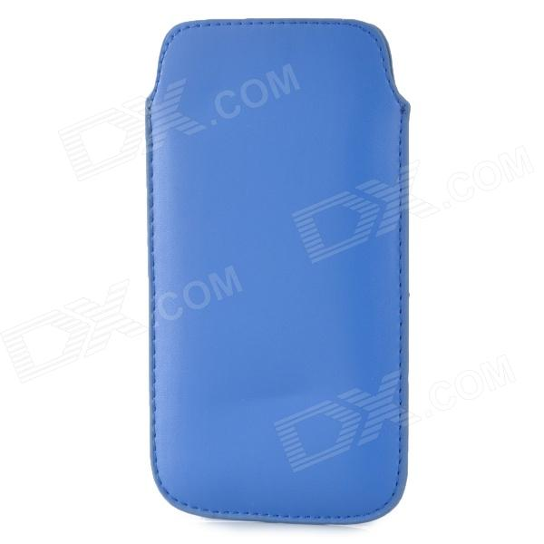 Protective PU Leather Pouch Bag Case for Samsung i9295 - Blue