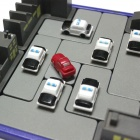 Police Car Road Block Educational Toy - Black + Blue + Yellow + Grey + Red + White