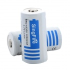 "SingFire BRC 18350 3.7V ""1200mAh"" Battery for Flashlight - White + Blue (2 PCS)"