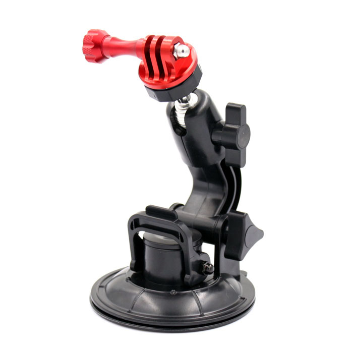 SMJ G-97 Car Glass Suction Cup + CNC Tripod Mount + Aluminum Screw for Gopro Hero 4/ 2/3/3+/SJ4000 smj g 125 suction cup mount holder stand for gopro hero 4 2 3 3 sj4000 black green