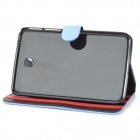 Stylish Protective PU Leather Case for Samsung Galaxy Tab 3 T210 - Light Blue