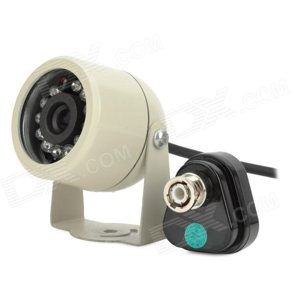 Car Infrared 1/4 CMOS Wide Angle CCTV Camera w/ 12-LED Night Vision / 2.4GHz Receiver - Silver elp high speed 2mp cmos ov2710 module wide view angle fisheye uvc android linux ir led board night vision hd usb camera 1080p