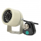 "Car Infrared 1/4"" CMOS Wide Angle CCTV Camera w/ 12-LED Night Vision / 2.4GHz Receiver - Silver"