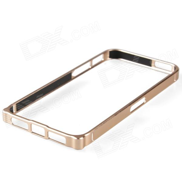 Zomgo Protective Aluminum Alloy Bumper Frame for Iphone 5 - Champagne zomgo stylish protective aluminum alloy silicone bumper frame for iphone 5 5s red white
