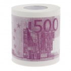 Novelty 500 Euros Pattern Toilet Paper 3-Layer Roll Tissue - White + Purple