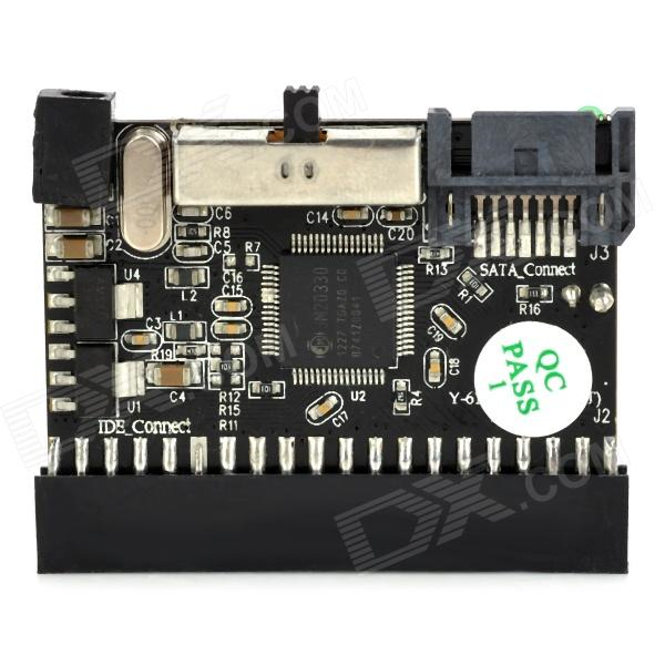 UnitekY-6112 IDE to SATA / SATA to IDE Bi-Directional Adapter Card - Black
