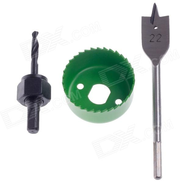 FEIBAO FB2156D Opening Tool Device Set - Black + Green 54mm door lock installation kit hole saw drill bits set 2 1 8 professional bi metal lock kit for woodworking tools