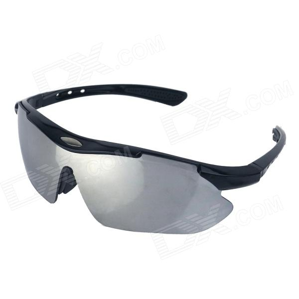 Men's UV400 Protection Outdoor Cycling Windproof Sunglasses - Black