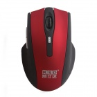 KSD 109A 2.4GHz Wireless Optical 800 / 1000 / 1600DPI Gaming Mouse - Red + Black (2 x AAA)
