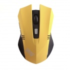 KSD 108A 2.4GHz Wireless Optical 600/800/1000/1200 DPI Gaming Mouse - Gelb + Schwarz (2 x AAA)