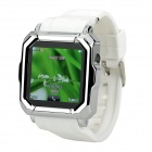"Iradish HD-i900 GSM Watch Phone w/ 1.54"" Resistive Screen, Quad-Band, Bluetooth and FM - White"