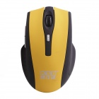 KSD 109A 2.4GHz Wireless 800 / 1000 / 1600 DPI Optical Game Mouse -Yellow + Black (2 x AAA)
