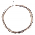 Fashionable Loops Decoration Necklace for Women - Golden + Silver