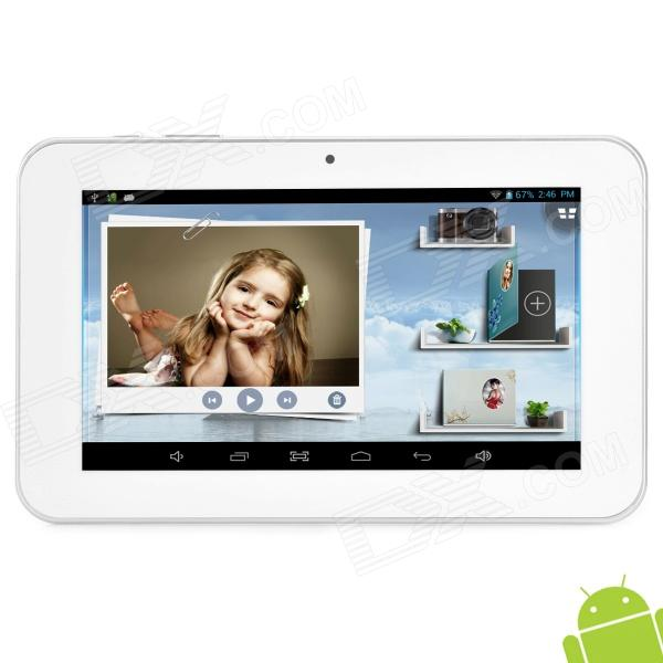 "Ampe A76 7"" Android 4.2 Dual Core Tablet PC w/ 512MB RAM / 8GB ROM / G-Sensor - White"