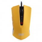 KSD 201 Wired USB 2.0 800 / 1200 / 1600 / 2400DPI Optical Game Mouse - Yellow + Black