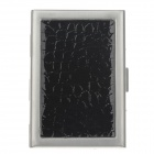 C-5170 Stilvolle Alligator Pattern Aluminum Alloy Card Speichermedium Case - Schwarz + Silber