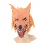 A-060 Life-like Wolf Head Style Rubber Latex Mask - Brown + Black + Red + Orange