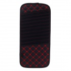 Biety AM-10 Multifunctional PU Leather Car Sunvisor Sunshade / CD Holder - Black + Red